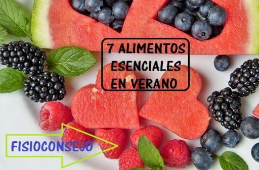 7 alimentos esenciales en verano