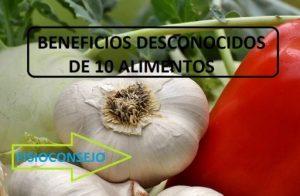 beneficios desconocidos de 10 alimentos