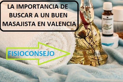 buen masajista en Valencia