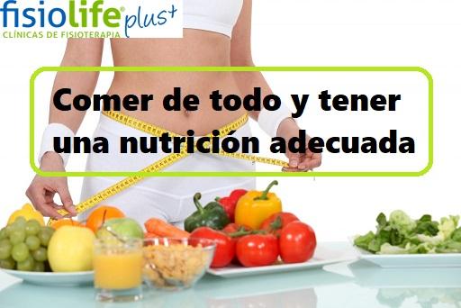 comer de todo y tener una nutrición adecuada